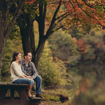 greensburg pa twin lakes engagement session