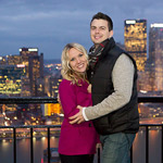 downtown pittsburgh engagement session